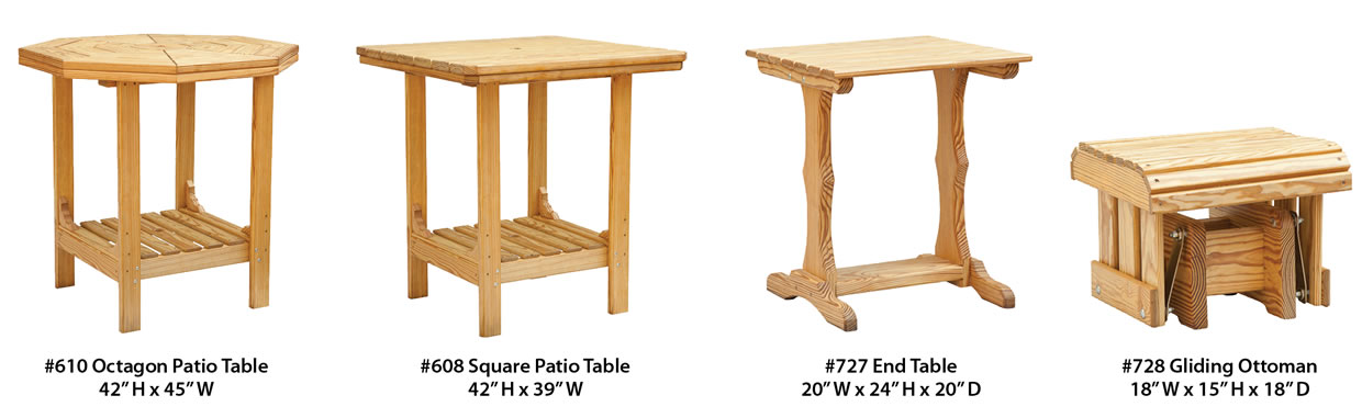 Patio Tables and Chairs 2